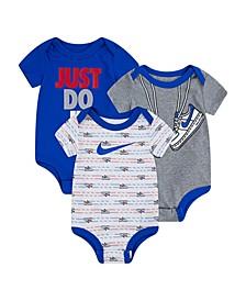 Baby Boys Bodysuit Set, 3 Pieces