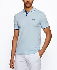 BOSS Men's Stretch-Piqué Slim-Fit Polo Shirt
