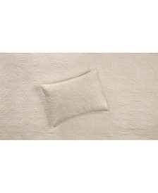 Batik Embroidery Quilted King Sham, Created for Macy's