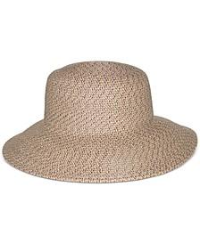 Packable Classic Braid Down Brim Floppy Hat