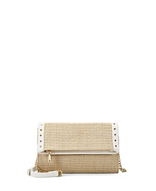 INC Averry Straw Tunnel Crossbody, Created for Macy's