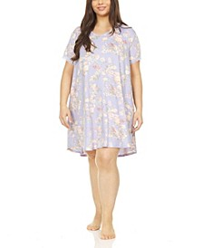 Kate Printed Plus Size Sleepshirt