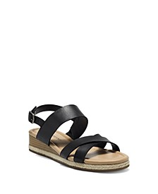 Women's Waeka Crisscross Strap Wedge Sandals