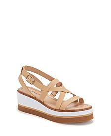 Women's Ticey Strappy Wedge Platform Sandals