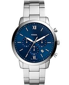 Men's Neutra Silver-Tone Bracelet Watch 44mm