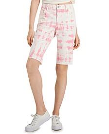 Petite Tie Dye Bermuda Cutoff Shorts, Created for Macy's