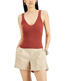 INC Ribbed Sweater Tank, Created for Macy's
