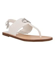 Women's Brook Logo Thong Flat Sandals