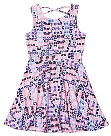 Little Girls All over Print Skater Dress
