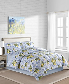 Lemon 8-Pc. Reversible Queen Comforter Set