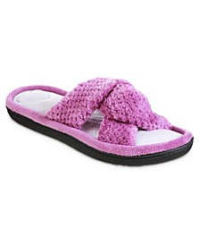 Women's Popcorn ECO Microterry Slide Slippers with Memory Foam