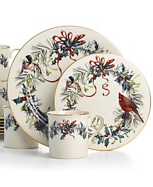 Lenox winter greetings dinnerware collection fine china macys lenox winter greetings 12 m4hsunfo