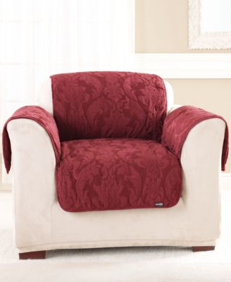 Charmant Matelasse Damask Pet Chair Slipcover