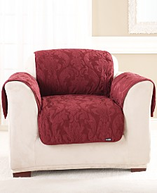 Sure Fit Matelasse Damask Pet Chair Slipcover