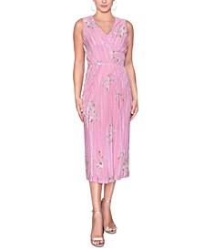 Wrap-Style Midi Dress