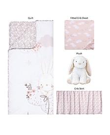 Sammy and Lou Cottontail Cloud 4 Piece Crib Bedding Set