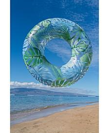 """Resort Collection48"""" Jumbo Pool Tube with Palm Print"""