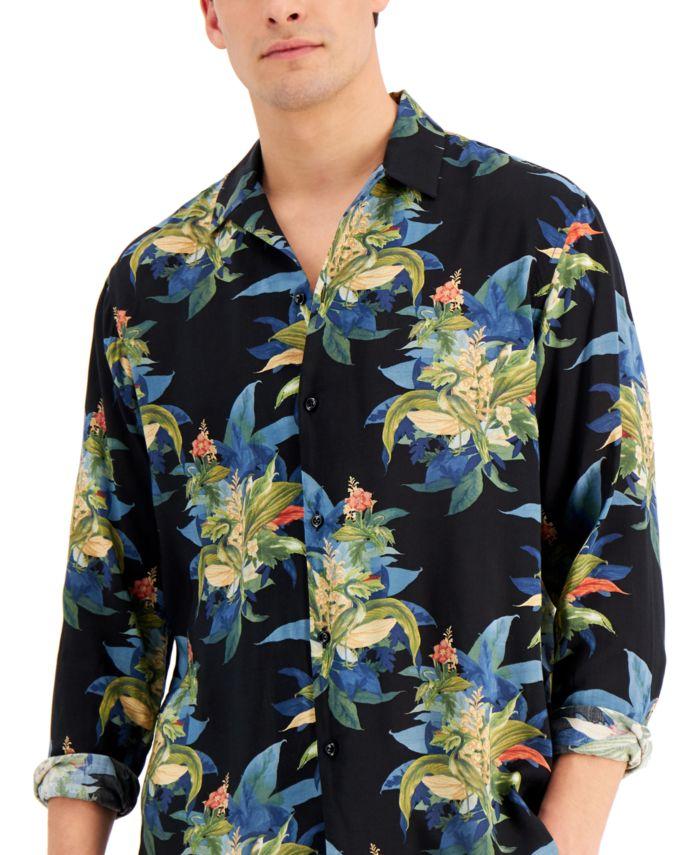 INC International Concepts INC Men's Tropical Print Shirt, Created for Macy's & Reviews - Casual Button-Down Shirts - Men - Macy's