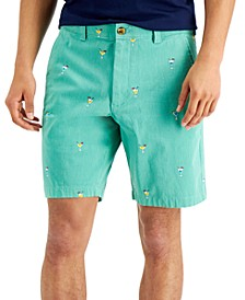 "Men's 9"" Stretch Cocktail Print Shorts, Created for Macy's"