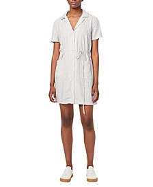 Laiche Cotton Striped Mini Shirtdress