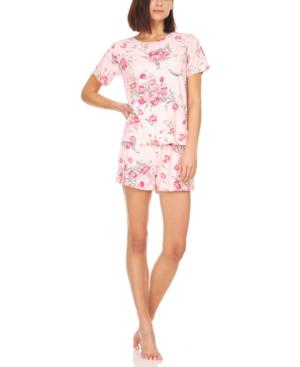 Averie Rib-Knit T-Shirt & Shorts Pajama Set