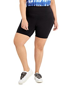 INC Plus Size Compression Bike Shorts, Created for Macy's