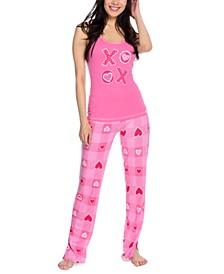 Buffalo Plaid Hearts Pajamas Set