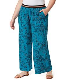 Trendy Plus Size Shani Printed Long Pants