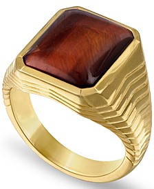 Tiger's Eye Statement Ring in 14k Gold-Plated Sterling Silver, Created for Macy's