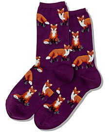 Women's Fox Novelty Crew Socks