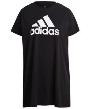 Adidas Originals Cottons ADIDAS PLUS SIZE COTTON BADGE OF SPORTS T-SHIRT DRESS