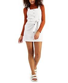 Juniors' Belted Skirtall Dress