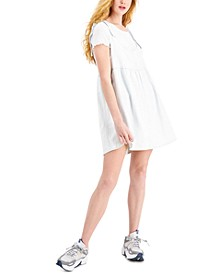 Juniors' Babydoll Pinafore Dress