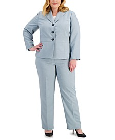 Plus Size Three-Button Pantsuit