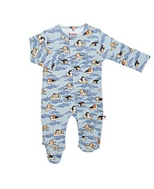 Baby Boy Row-Ver Magnetic Footie One Piece
