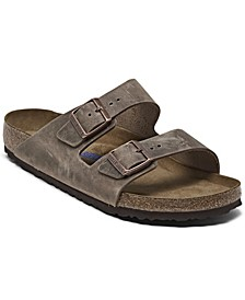 Men's Arizona Birko-Flor Soft Footbed Two-Strap Sandals from Finish Line