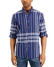 Men's Madras Plaid Long Sleeve Shirt, Created for Macy's