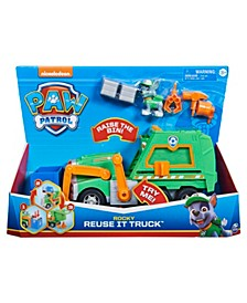 Rocky's Reuse It Deluxe Truck with Collectible Figure and 3 Toolsfor Kids Aged 3 and up