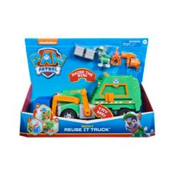 Paw Patrol Rocky's Reuse It Deluxe Truck with Collectible Figure and 3 Toolsfor Kids Aged 3 and up