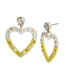 Heart Drop Earrings