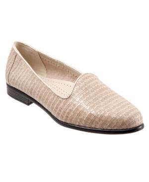 Trotters Women's Liz Croco Flat Shoe Women's Shoes In Bone