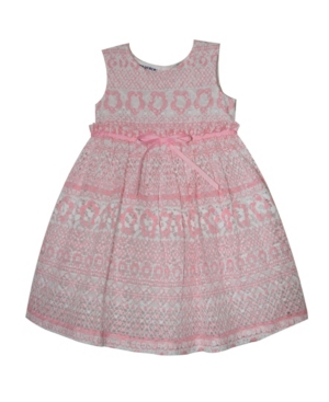 Blueberi Boulevard Dresses LITTLE GIRLS PRINTED LACE DRESS