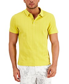 Men's Textured Polo Shirt, Created for Macy's