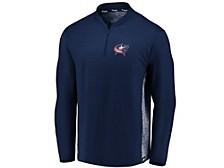 Men's Columbus Blue Jackets Iconic Transit Quarter-Zip Pullover