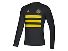 Columbus Crew Men's Three Stripe Life Pitch Creator Long Sleeve T-Shirt