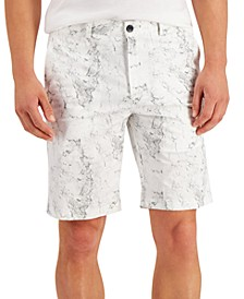 Men's Marble Printed Shorts, Created for Macy's