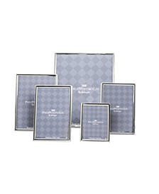 5 Piece Silver Plated Photo Frame Set
