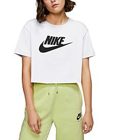 Women's Sportswear Cotton Logo Cropped T-Shirt