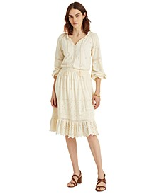 Eyelet Jersey Dress