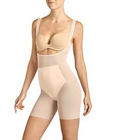 Women's Power Mesh Open Bust Bodysuit Shaper